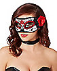 Red and Black Day of the Dead Mask