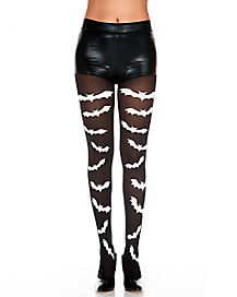 Black and White Bat Tights