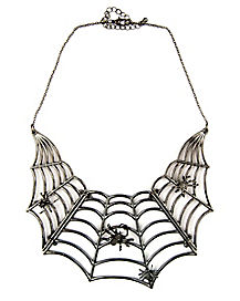 Witch Spiderweb Statement Necklace