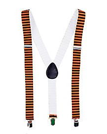Orange and Black Striped Suspenders