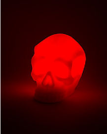 Red LED Wax Skull Light