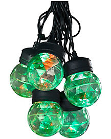 Toxic Green and Orange Fire and Ice String Lights