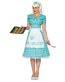 Adult Housewife Dress Costume