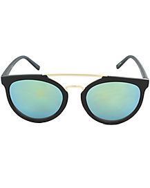 Black and Gold Aviator Sunglasses