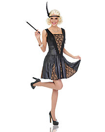 Adult Peek A Boo Flapper Costume