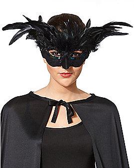 Black Feather Owl Mask
