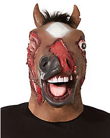 Zombie Horse Mask With Faux Fur