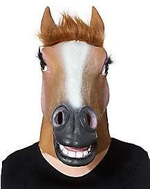 Female Horse Mask With Faux Fur
