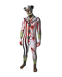 Scary Clown Skin Suit Adult Costume
