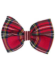 School Nerd Plaid Hair Bow