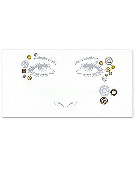 Steampunk Face Tattoo Decal