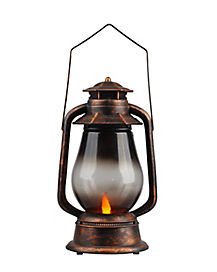 Light Up and Sound  Bronze Lantern