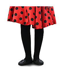 Kids Black Fleece-Lined Tights