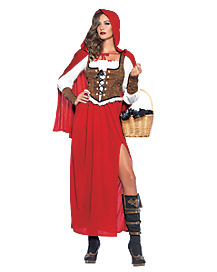 Adult Woodland Red Riding Hood Plus Size Costume