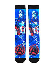 Captain America Sublimated Crew Socks