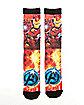 Avengers Iron Man Crew Socks - Marvel Comics