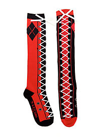 Lace Up Harley Quinn Socks - Batman
