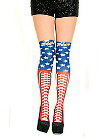 Wonder Woman Over the Knee Boot Socks