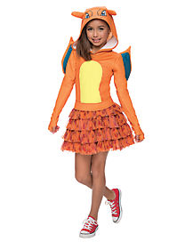 Kids Hooded Charizard Dress Costume - Pokemon