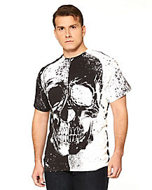 Adult Skull Head T Shirt