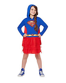 Supergirl Caped Dress