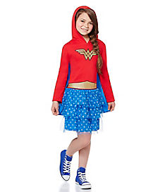 Wonder Woman Caped Girls Dress