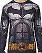 Adult Long Sleeve Printed Batman  T Shirt - DC Comics