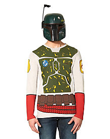 Adult Long Sleeve Boba Fett T-Shirt - Star Wars