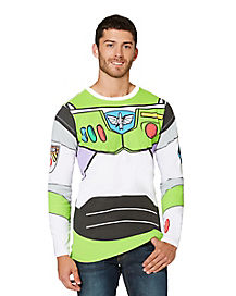 Adult Long Sleeve Buzz Lightyear T-Shirt - Toy Story