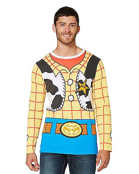 Adult Long Sleeve Woody T Shirt Toy Story