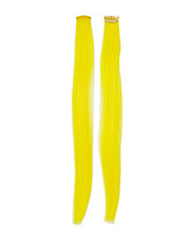 Yellow Clip In Hair Extensions
