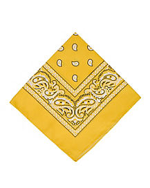 Yellow Basic Bandana