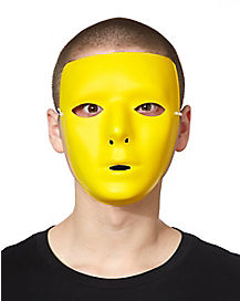Yellow Basic Blank Face Mask