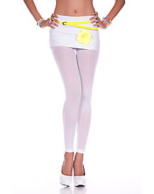 Basic White Footless Tights