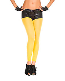 Yellow Footless Tights