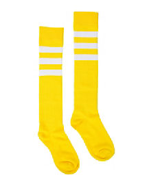 Yellow Basic Knee High Socks