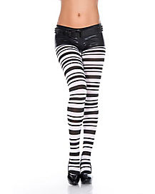 Black and White Stripped Tights
