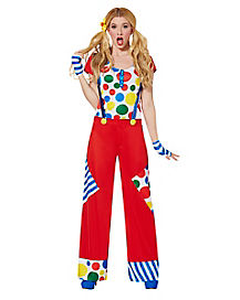 Cutesy the Clown Womens Costume
