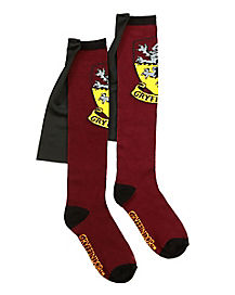 Caped Gryffindor Knee High Socks