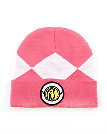 Pink Beanie Hat - Power Rangers