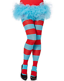 Thing 1 and 2 Striped Tights - Dr Seuss