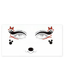 Minnie Mouse Face Tattoo Decals - Disney
