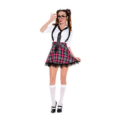 High Class Nerdy Womens School Girl Costume