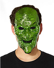 Metallic Green Witch Mask