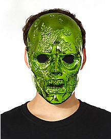 Metallic Green Zombie Mask