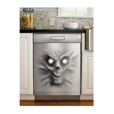 Demon Stainless Dishwasher Cling