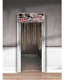 4.5 ft Zombie Doorway Curtain - Decorations