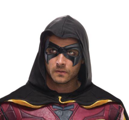 man wearing an Arkham mask