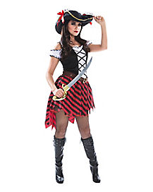 Bandit Pirate Captain Adult Womens Costume