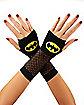 Yellow Fishnet Batman Gloves - DC Comics